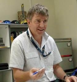 Peter Dale, maintenance manager at Newmont Batu Hiau mining complex